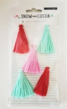 Crate Paper Snow and Cocoa Tassels - Set of 5 #379146