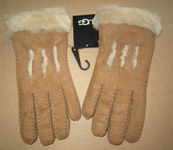 UGG Gloves Chestnut Sheepskin Exposed Shearling Small NEW - $140.00