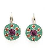 Exotica Vintage Style Swarovski Crystals & Enamel Earrings - $19.00