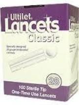 Ultilet Classic Lancets 28 Gauge - Box of 100 - $2.99