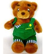 "Eden Corduroy Teddy Bear Green Overalls Plush Stuffed Animal 1996 12"" - $31.44"