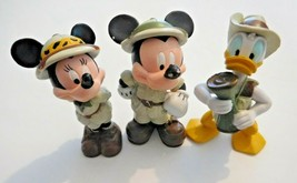 Mickey and Friends on Safari collectible figures set of 3 Disney Cake To... - $9.89
