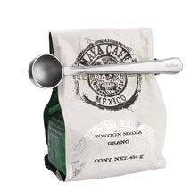 Durable Stainless Steel Tea Coffee Measuring Spoon With Portable Bag Clip - £5.04 GBP
