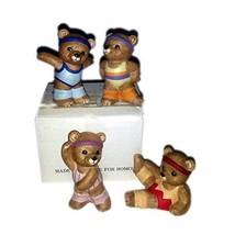 1990s Homco Aerobic Bears No. 1448 - $40.49