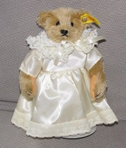 STEIFF 0155/22 STUFFED PLUSH TEDDY BEAR GIRL IN DRESS MARGARET WOODBURY ... - $94.04