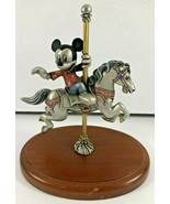 DISNEY Hudson Mickey's Carousel Ride Limited Edition 34/2500 Fine Pewter - $148.49