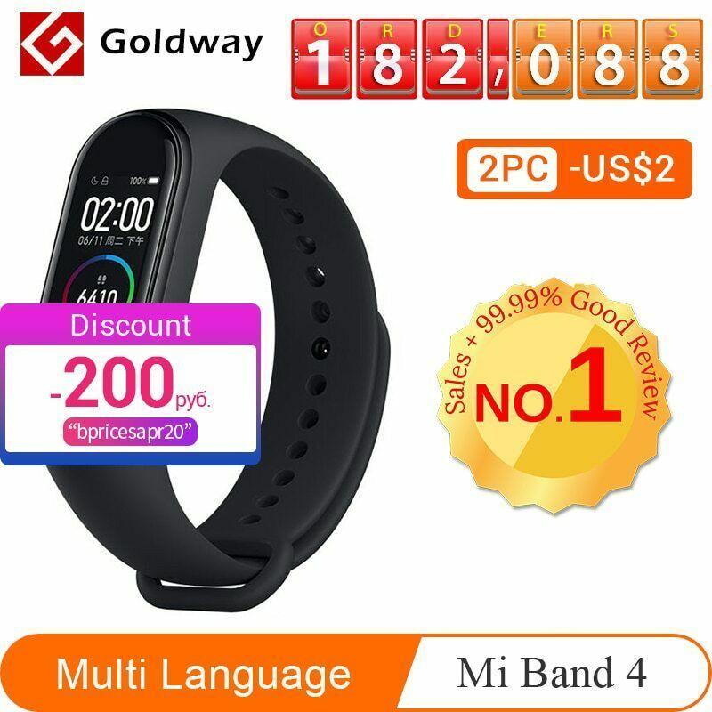 Xiaomi Mi Band 4 Smart Bracelet 3 Color AMOLED Screen Miband 4 Smartband - $51.59 - $58.49