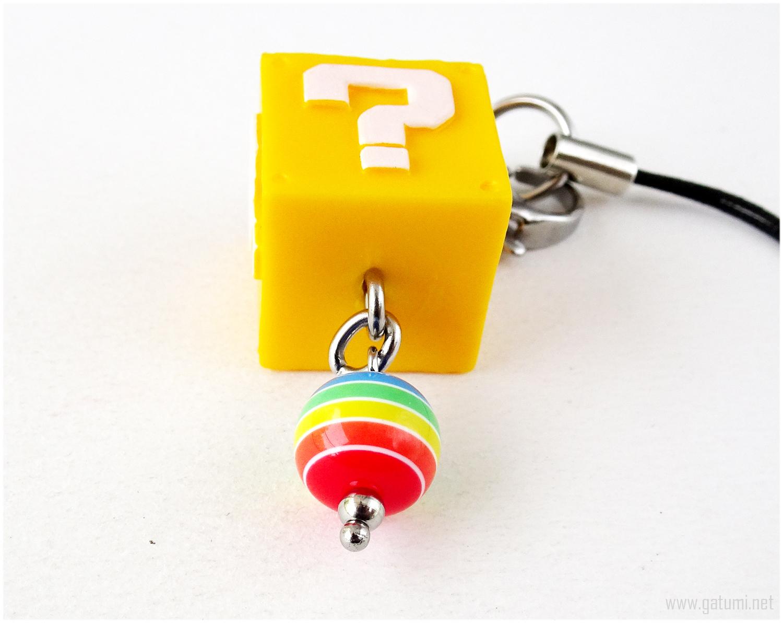 Super Mario Question Block Phone Charm Plug, Zipper Pull, Keychain, Gamer Gifts
