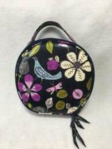 Vera Bradley Floral Nightingale Hatbox Travel Cosmetic Coated Makeup Bag... - $34.99