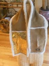 UGG® Australia 4 Panel Gold Sequin Shearling Chestnut UGG Scar - $161.90