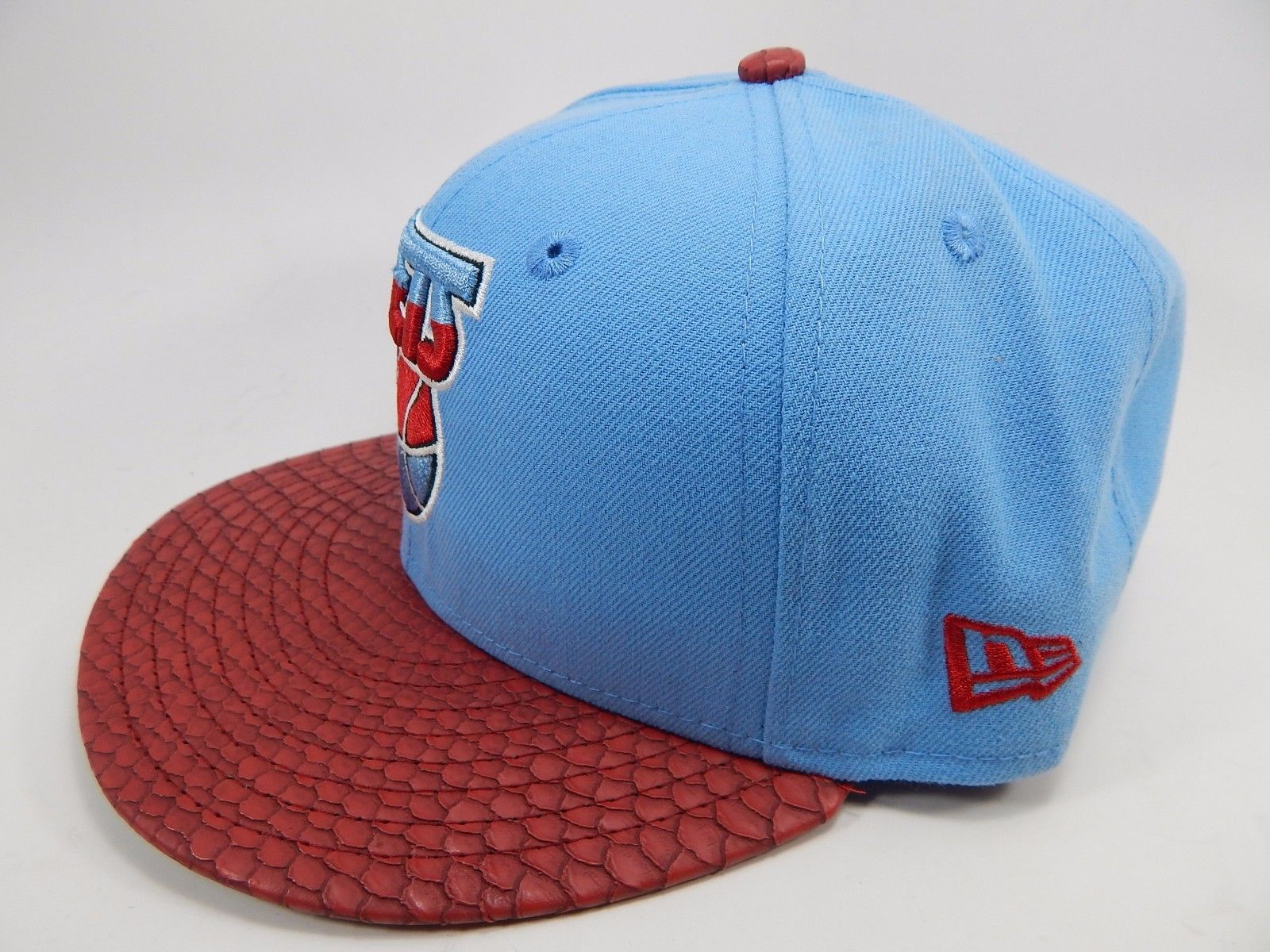 New Jersey Nets New Era Size 7 1/4 Fitted 59Fifty Official NBA Cap Hat Blue Red