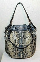 Coach Madison Embossed Python Marielle Drawstring Tote Hand Bag #17019 M... - $336.24