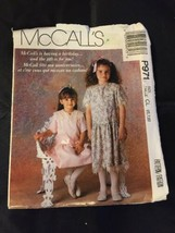 1989 McCall's Sewing Pattern P971 Girls SZ 6-8 Uncut - $5.89