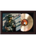 "Stevie Ray Vaughan Cherrywood Reproduction Signature Display. ""M4"" - $151.95"