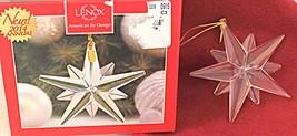 2014 Optic Glass Star Ornament  Lenox-American By Design - $4.95