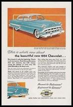 Chevrolet Bel Air 4 Door Sedan 1954 Photo Ad Power Steering Windows Chrome - $9.99