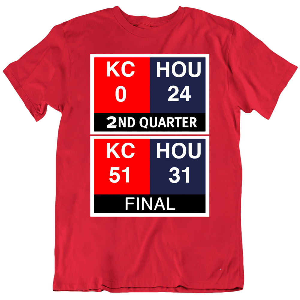 Primary image for Kansas City Comeback Scoreboard Football Fan V1 T Shirt