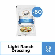 Heinz Light Italian Dressing Single Serve 1.5 oz Packets, Pack of 60