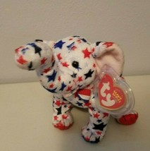 TY Beanie Babies Righty Elephant Republican 2004 on Tag and 2003 On Back - $9.59