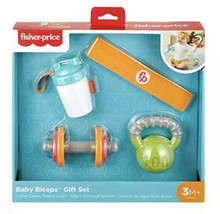 Fisher-Price Baby Biceps Gift Set, 4 fitness-themed baby toys with weara... - $19.34
