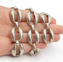 DANECRAFT 925 Silver - Vintage Smooth Hollow Oval Link Chain Necklace - ... - $170.24