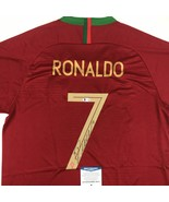 Autographed/Signed CRISTIANO RONALDO Portugal Red World Cup Jersey Becke... - $449.99