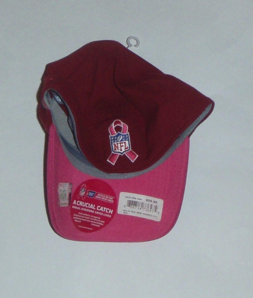 NWT New Washington Redskins New Era 39Thirty Breast Cancer Size M/L Flex-Fit Hat