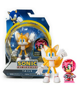 Sonic the Hedgehog Tails 4in Action Figure with Amy Spinable Disk Mint o... - $24.88