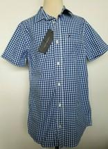 Tommy Hilfiger Boys Plaid Shirt Blue White Size L 16-18 NWT - $28.99