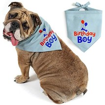 JOYLOADER Dog Birthday Bandana Boy - Dog Birthday Party Supplies - Birth... - $11.55