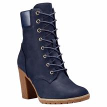 Timberland Women's Glancy 6 Inch Navy Nubuck Boots Style A14H1 - $1.977,41 MXN
