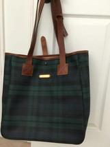POLO RALPH LAUREN PLAIDS BAG HAND BAG SHOULDER GREEN BLACKWATCH CHECK - $593.01