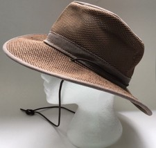 HENSCHEL Hat Size Small Packable Crushable Fabric with Mesh Wide Brim Strap - $8.39