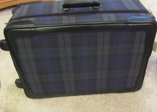 """Ralph Lauren RL SERIES 1000 LUGGAGE COLLECTION 21""""RollING TRUNK LEATHER TRIM NEW"""