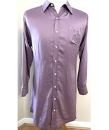Lauren Ralph Lauren Shirt Embroidered Satin Feel Large L Purple Lavender... - $35.59