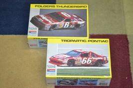New Sealed Monogram #66 Tropartic Pontiac & #6 Folgers Thunderbird Lot Model Kit - $18.49