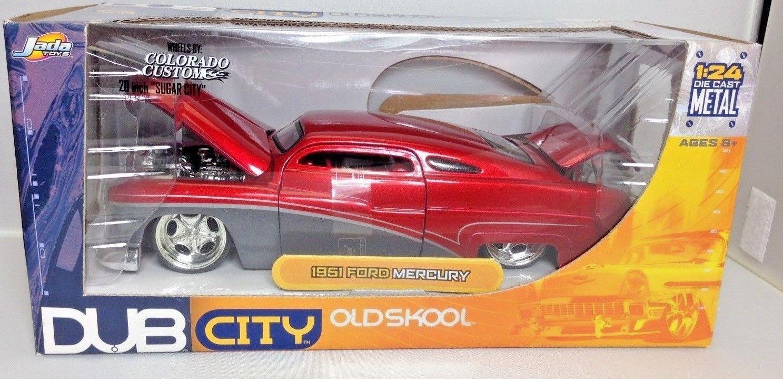 Jada Dub City 1/24 1951 Mercury red gray diecast model car Old Skool