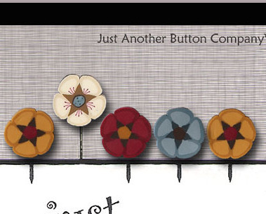 Pins For Kris Just Pins JP203 set 5 for pincushions JABC Just Another Button Co