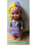 Gabriel Toys Pretty Cut & Grow Doll w/ Dress, Yellow & Purple Yarn Hair - $10.00