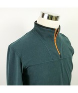 Arcteryx Mens Medium Fleece Jacket 1/4 Zip Pullover Dark Green Hiking Ou... - $44.95