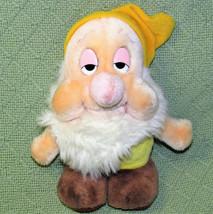 Vintage Disney Sleepy Dwarf Stuffed Animal Doll Snow White Seven Dwarves Toy - $14.03