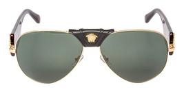 6f8013db9b29 Versace VE2150Q 100271 62mm Gold Tortoise Frame Green Lens Aviator  Sunglasses - $117.32
