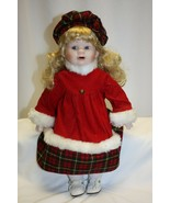 "1999 Heritage Mint 14"" Porcelain Doll ""Nicole"" Christmas / Winter  - $19.79"
