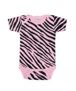 Newborn Pink Zebra Print Onesie Size 8-13 Pounds - $15.00