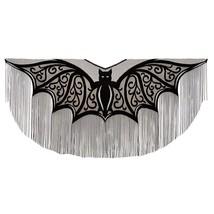 "Heritage Lace Halloween Bats! Fringe Poncho Costume 57"" x 57"" One Size F... - $31.99"