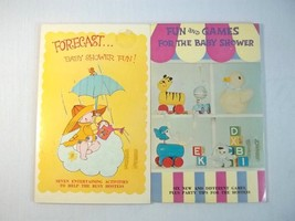Baby Shower Games 2 Used Books American Greetings Vintage Made in USA - £6.21 GBP