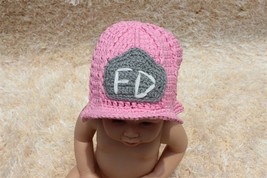 Handmade Knit Baby Child Kids Firemen FD Hat  Beanie Newborn Photo Prop ... - $7.99