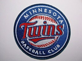 """Minnesota Twins~Embroidered PATCH~3 1/2"""" Round~Iron Sew On~MLB~Ships FREE - $4.75"""