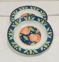 "Set of 2 VTG Salad Plates 8 1/4"" by MIKASA Intaglio Delicious Peach Frui... - $11.83"