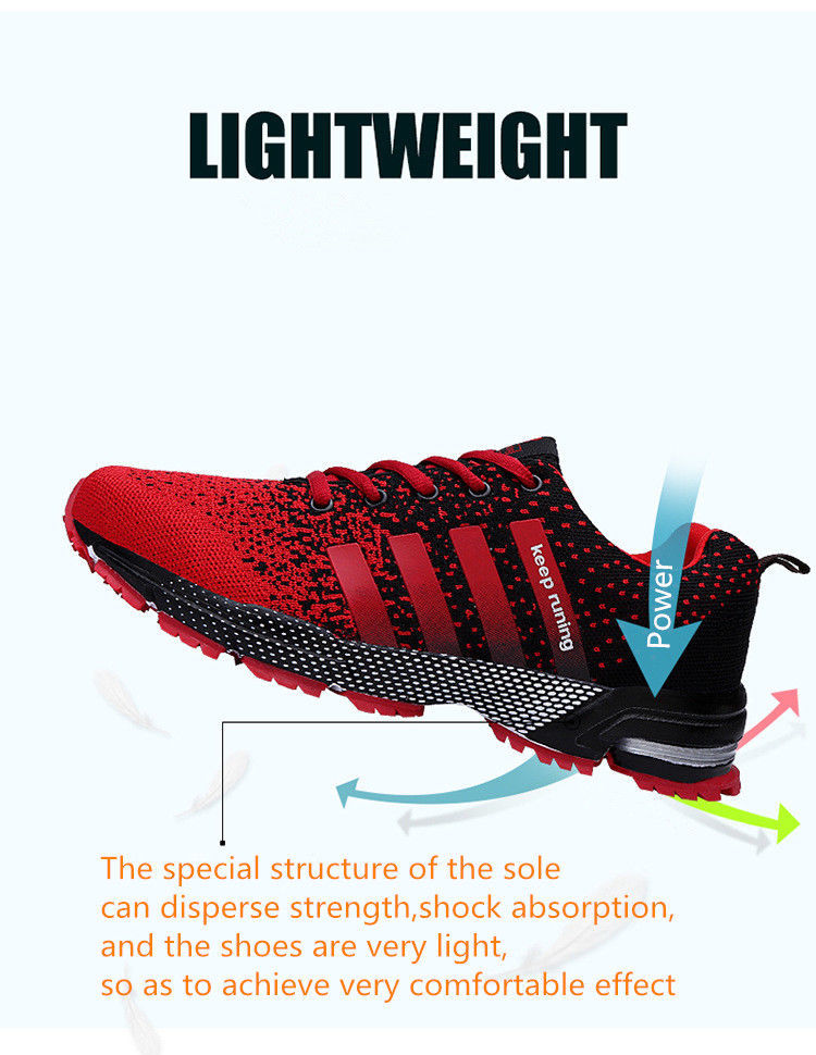 Men Women Breathable Lightweight Sneakers Shoes Casual High Quality Laces Unisex